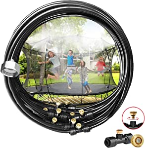 Ralph Misting Cooling System,27ft Misting Hose +11 Brass Mist Nozzles Outdoor Mister Patio Garden Greenhouse Trampoline for Waterpark.