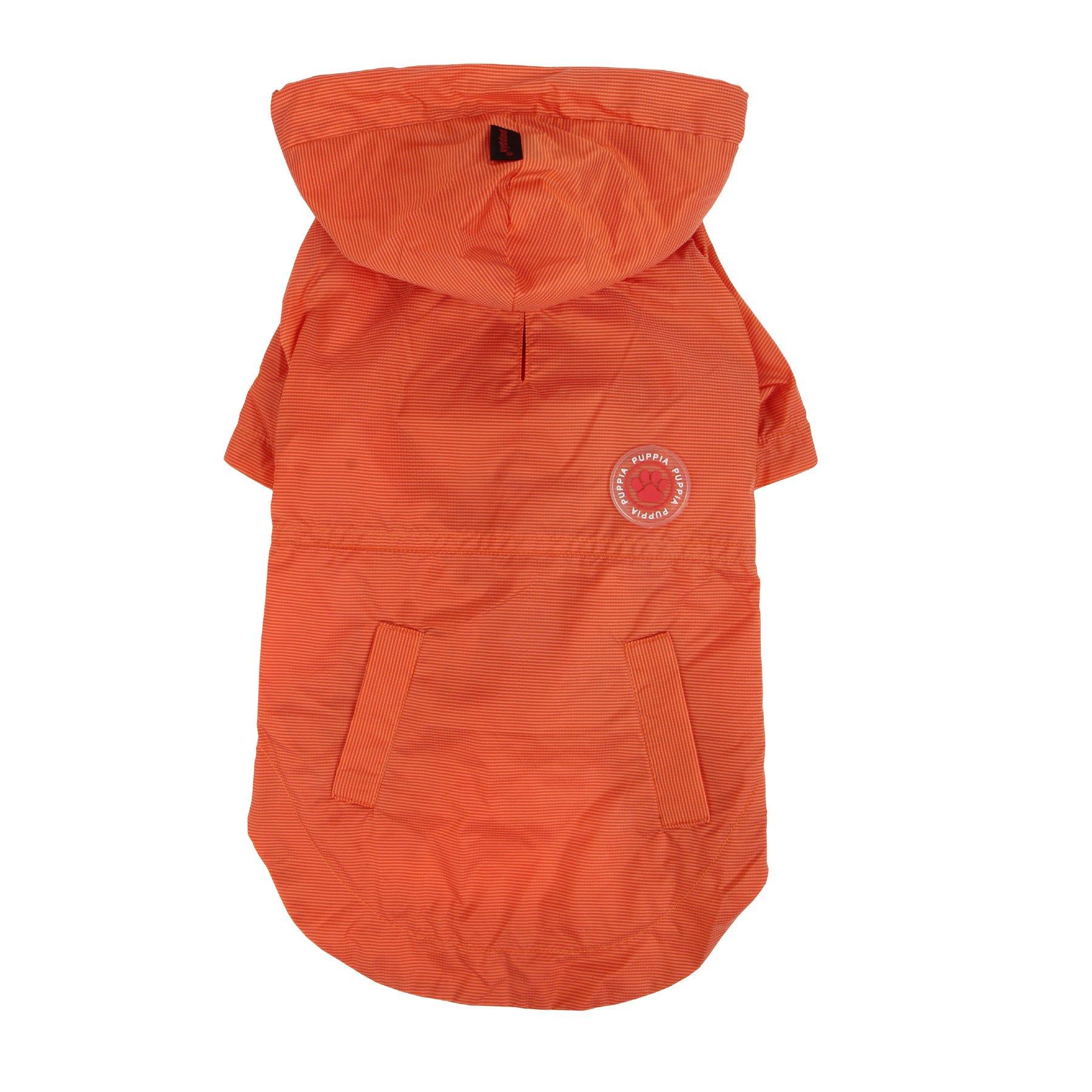 PUPPIA Authentic Windbreaker Pet Raincoat, Large, Orange