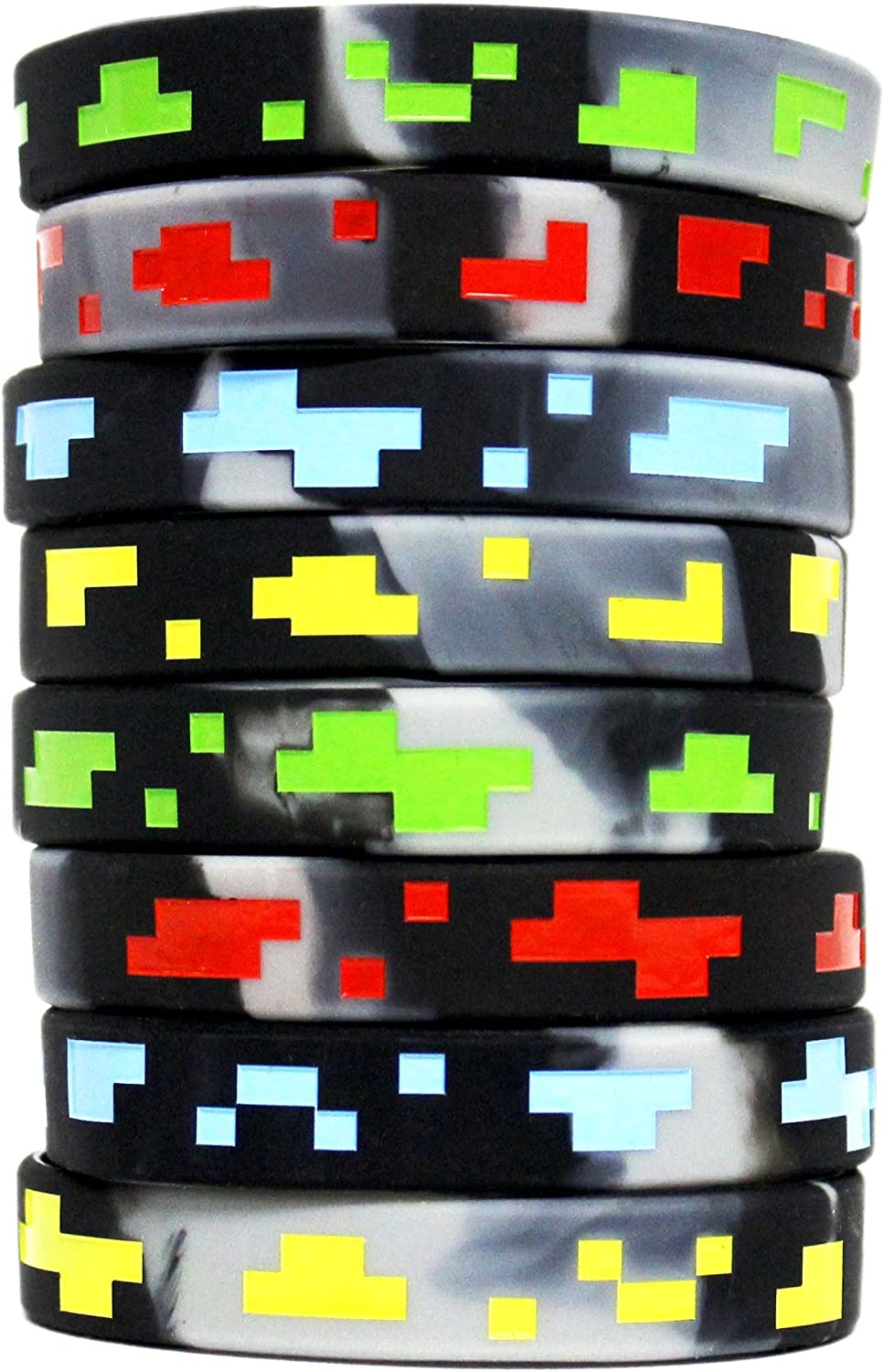 Minecraft Slap Rulers Bracelets Birthday Party Favors 8 Count
