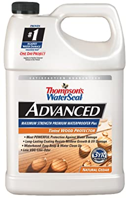 Thompsons Water Seal A21761 Natural Cedar Tinted Wood Protector Low VOC