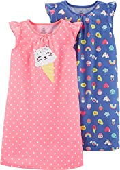 Carters Girls 2 Pk Gown Poly 373g082