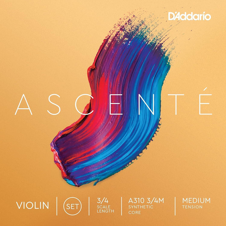 D'Addario A310 4/4M Ascente Violin String Set, 4/4 Scale, Medium Tension D'Addario &Co. Inc