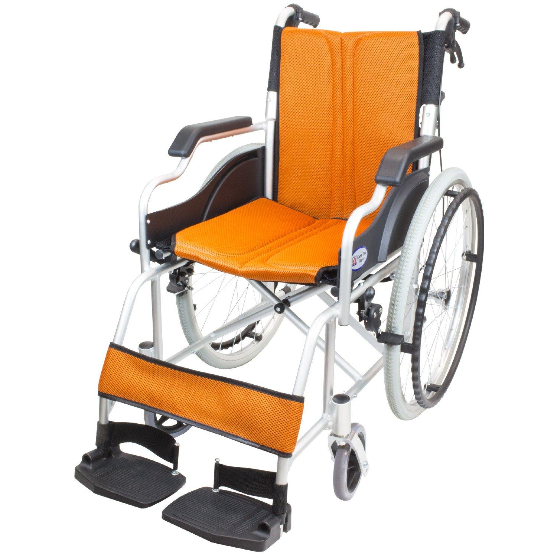 ケアテックジャパン 自走式車椅子 ハピネスコンパクト CA-10SUC (オレンジ) B079SYL4L4 オレンジ オレンジ