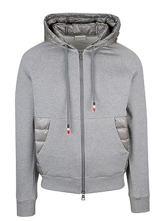 89f073737bcb Amazon.com  Moncler Men s 840060080985920 Grey Cotton Sweatshirt ...