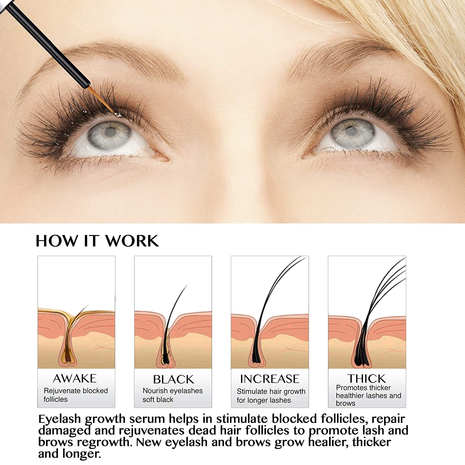 Amazon Natural Lash Growth Serum Usa Made Eyebrow Growth