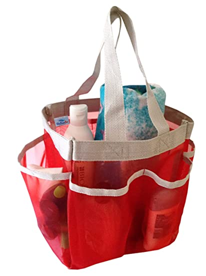 Amazon.com: Quick Dry and Portable Hanging Mesh Shower Caddy - Bath ...