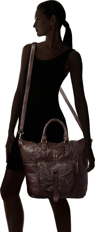 9x36x41 cm B x H T Braun Women/'s Backpack Handbag Taschendieb Td0063db Dunkelbraun