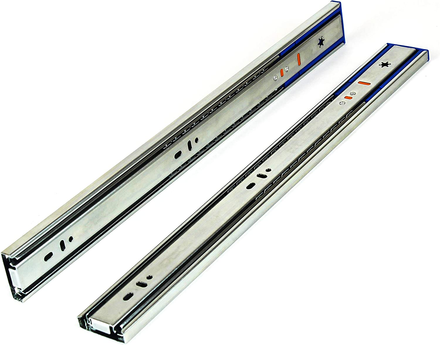 10 Pack Berta Full Extension Push to Open Ball Bearing Side Mount Drawer Slides 20-Inch 100Lb Load Rating 10 Pairs