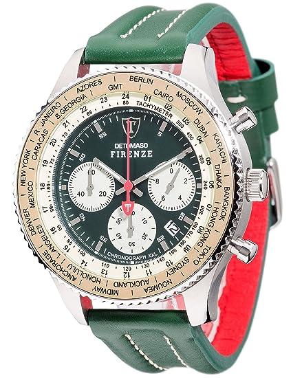 DETOMASO Firenze XXL - Cronógrafo Forza Di Vita para Hombre: Amazon.es: Relojes