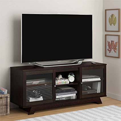 Amazon Tv Stand For Tvs Up To 55 With Two Slide Open And