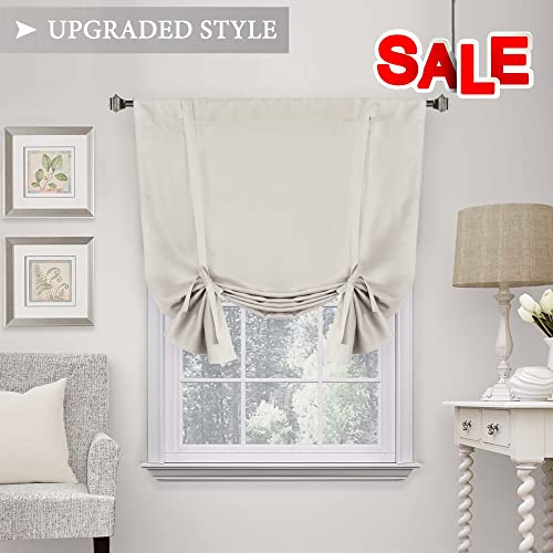 window shades on sale window coverings hversailtex thermal insulated blackout tie up curtain adjustable window shade rod pocket shades amazoncom