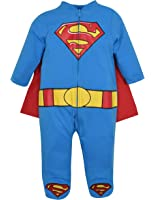 Superman Footed Pajamas with Cape