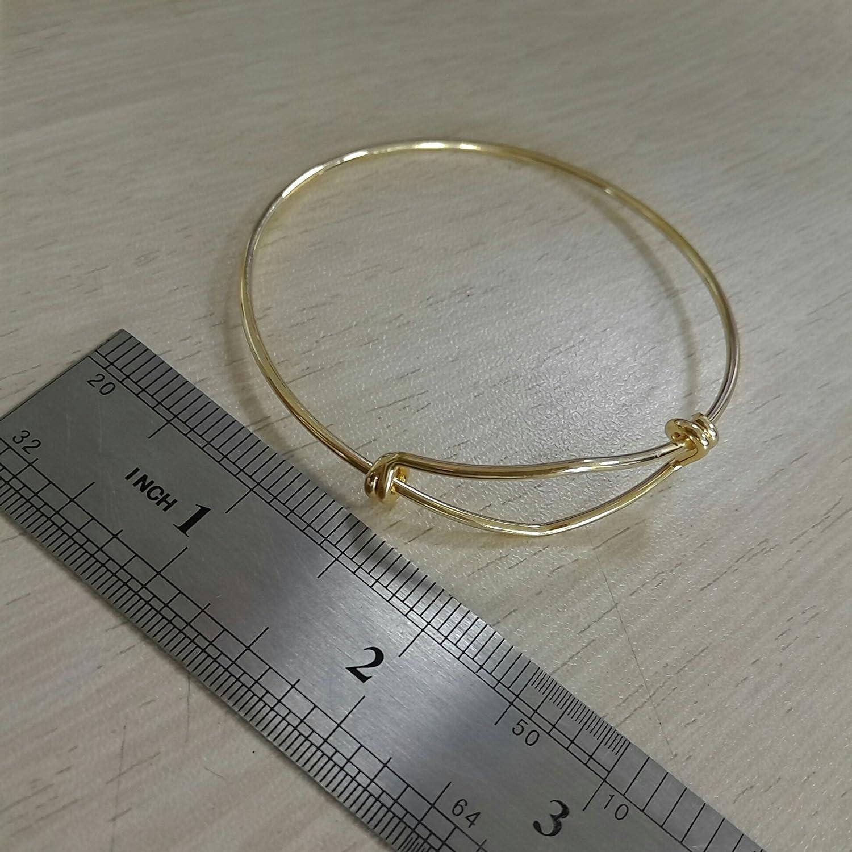 MANZHEN 3Colors Simple Bracelets Fashion Expandable Wire Bangle Bar Bracelets