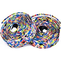 Weanas Bike Handlebar Tape Super Soft EVA Bicycle Bar Tape Wraps with 2 Bar Plugs for Touring Cycling and Road Racing - 2PCS Per Set