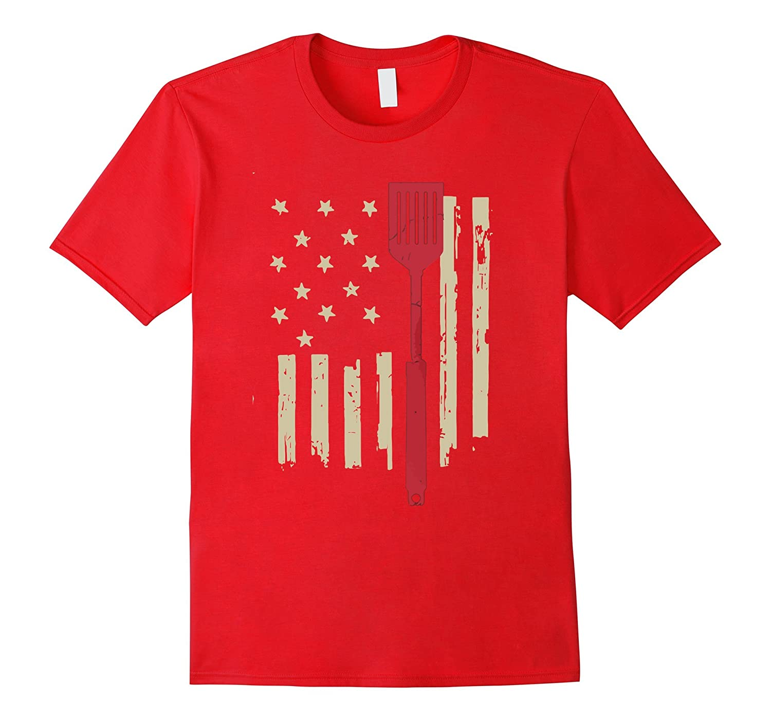 American BBQ Old Glory and spatula tshirt-Art