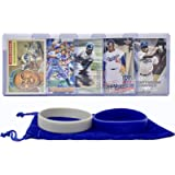 Jackie Robinson Baseball Cards (5) ASSORTED Brooklyn Dodgers Trading Card and Wristbands Gift Bundle