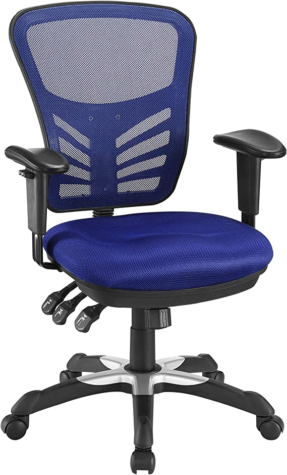 Amazon Com Modway Articulate Ergonomic Mesh Office Chair In Blue Furniture Decor