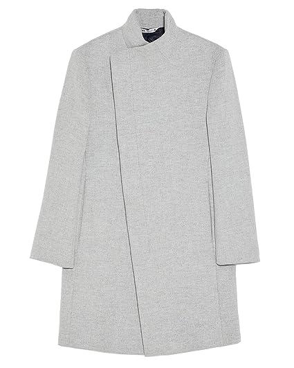 Zara - Abrigo para Hombre con Cuello asimétrico 5784/630/811 ...
