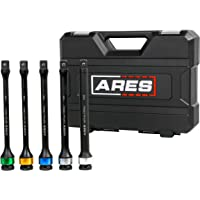 ARES 70367 - Torque Limiting Extension Bar Set - Chrome Moly 1/2-Inch Drive 8-Inch Long Impact Grade Bars - Flex Action Prevents Over-Tightening - Color Coded for Easy Identification