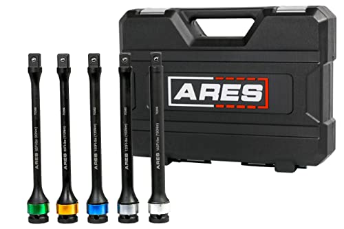 Ares 70367 Torque Limiting Extension Bar Set (5 Piece Set)