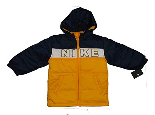 4ce9b67b9df0 NEW NIKE BOMBER PADDED WINTER JACKET BOY YELLOW NAVY 6