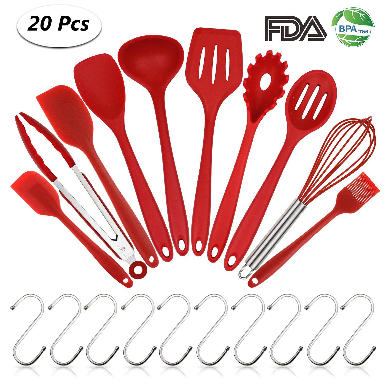 Philonext 20 Stück Silikon Küchenutensilien Werkzeug, Silikon Küchen ...