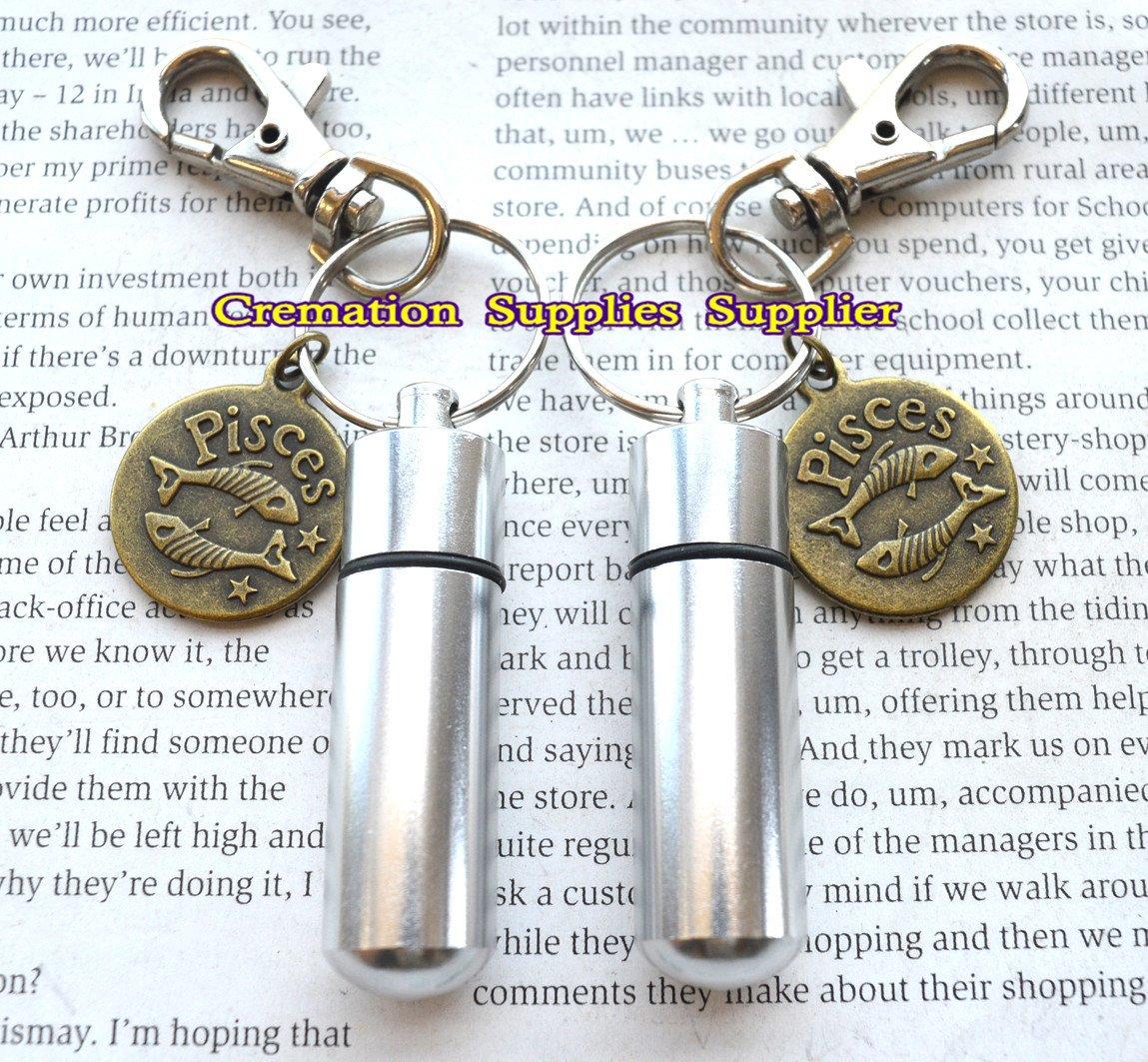 Lovely plata Personal con Pisces, cenizas de recuerdo de ...