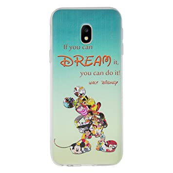 official photos 7dff4 163bb Disney Quote Phone Case/Cover for Samsung Galaxy J3 2017 / Silicone Soft  Gel/TPU / iCHOOSE/Dream