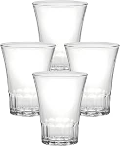 Duralex Made In France Amalfi Glass Tumbler (Set of 4), 4.62 oz, Clear