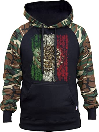 Interstate Apparel Mens Emiliano Zapata Revolution Black Fleece Zipper Hoodie Black