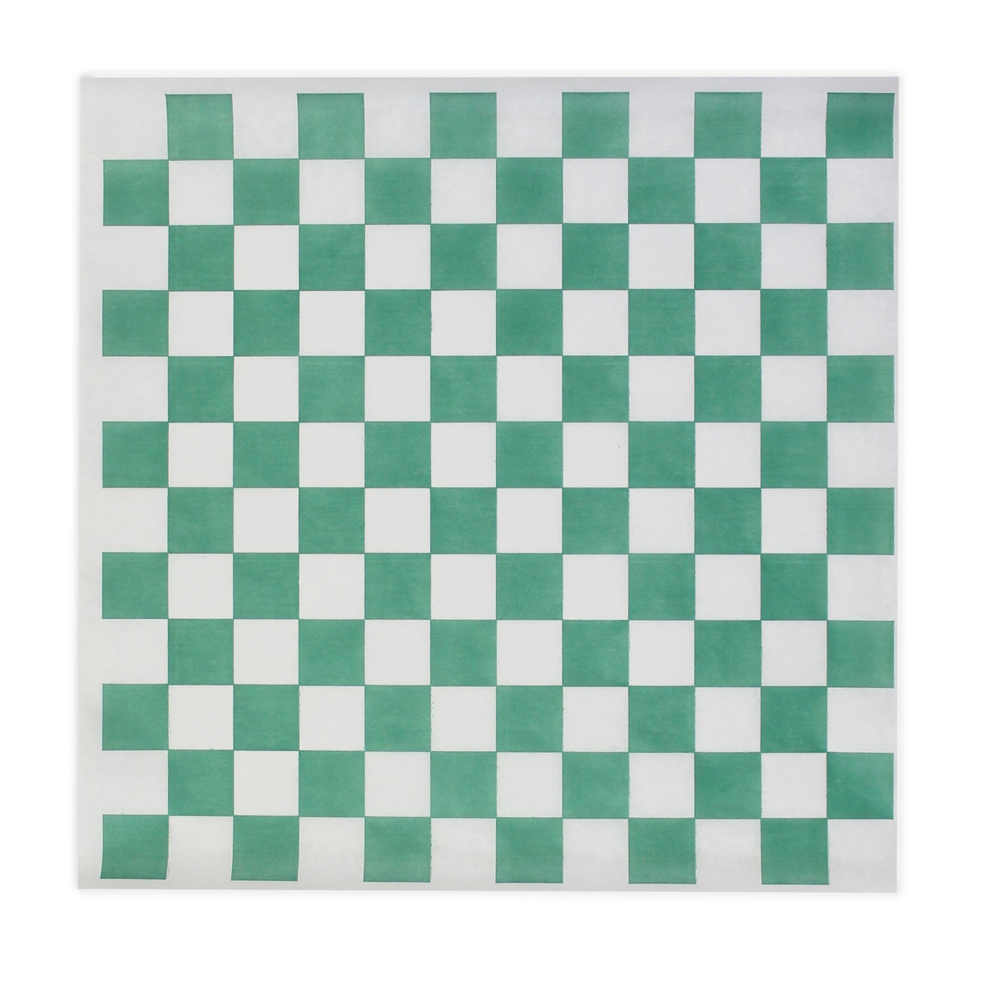 Green Check Dry Wax Paper Deli Wrap and Basket Liner | 100ct