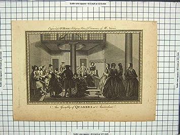Stich Szenen Versammlungs Quaker Amsterdam Religion Amazon De
