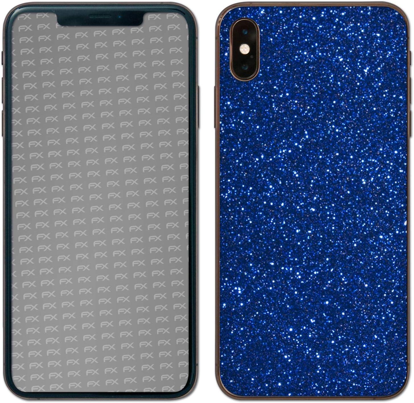 FX-Glitter-Sterling-Silver Feuille Scintillante r/éfl/échissante atFoliX Skin Compatible avec Apple iPhone XS Max Back Cover Sticker Autocollant