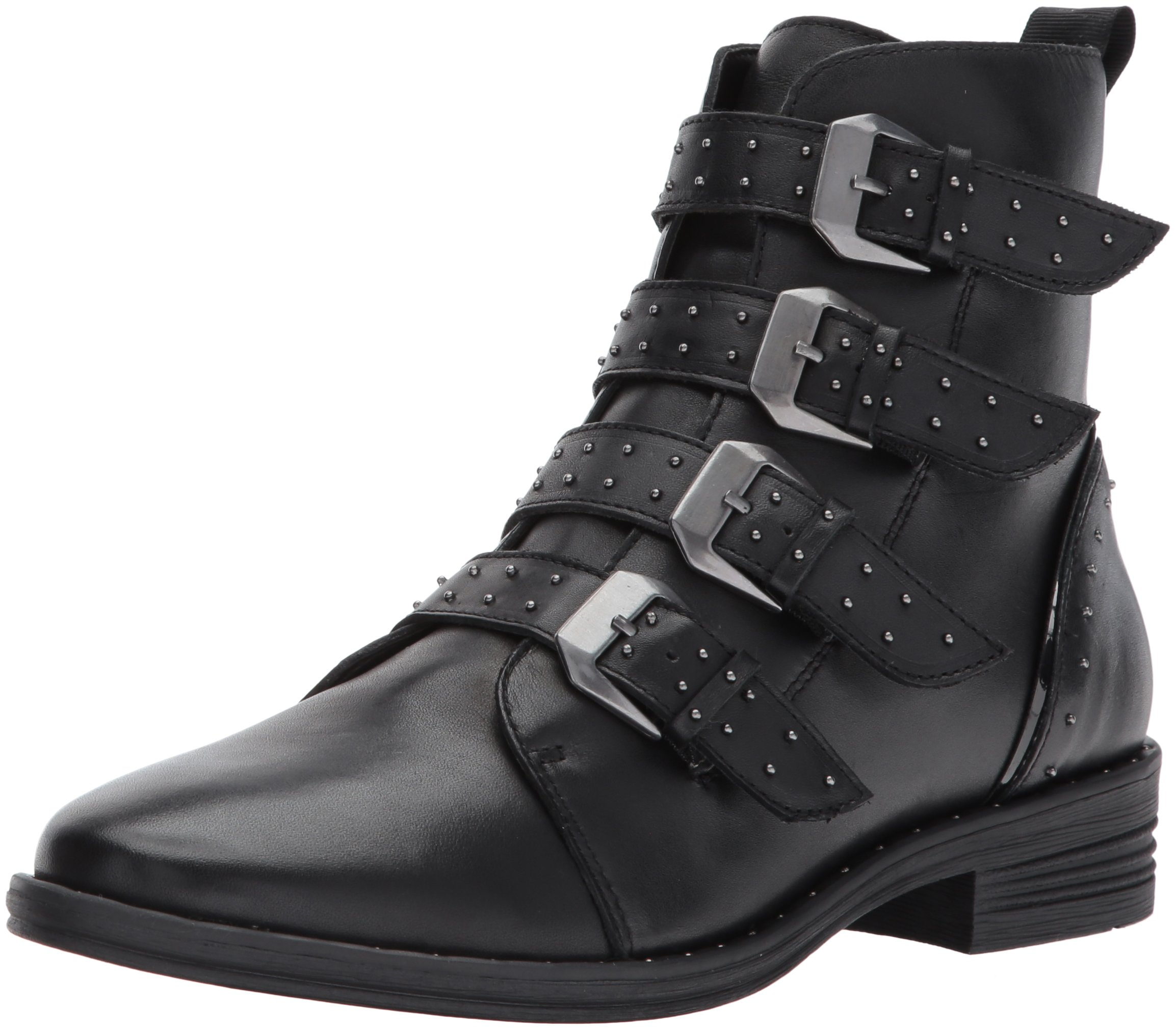ویکالا · خرید  اصل اورجینال · خرید از آمازون · Steve Madden Women's Pursue Motorcycle Boot, Black Leather, 8.5 M US wekala · ویکالا