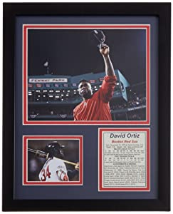 """David Ortiz - Fenway Farewell 11"""" x 14"""" Framed Photo Collage by Legends Never Die, Inc."""