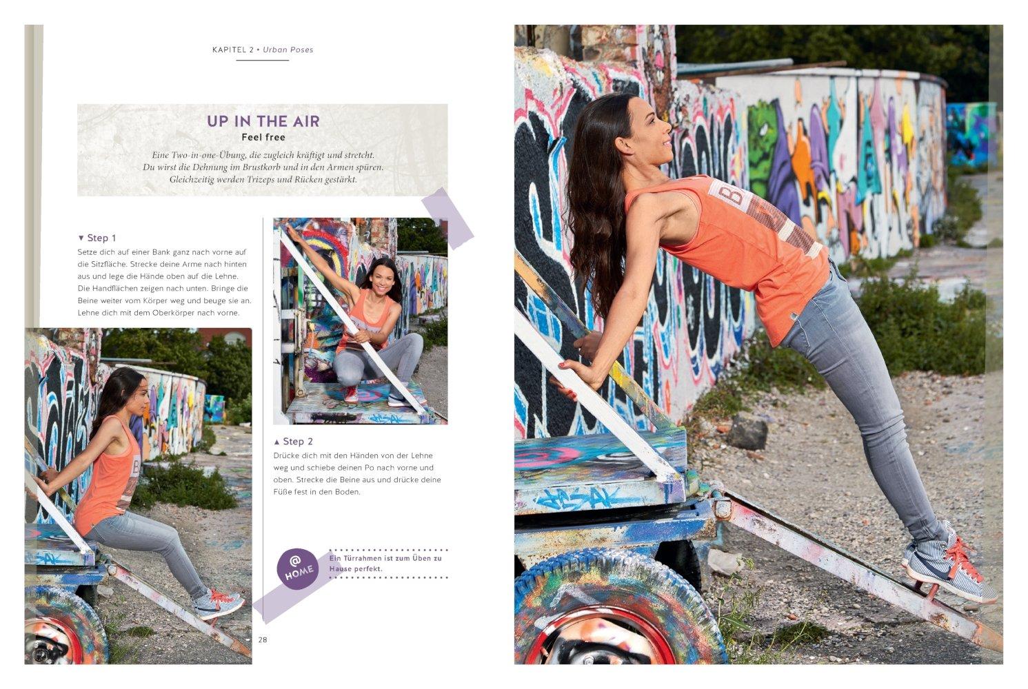 urban yoga 9783833848162 amazoncom books - Skateboard Bank Beine