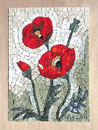 Amazon mosaic art kit diy wildflowers poppies 9x125 mosaic art kit diy wildflowers poppies 9quotx125quot birthdaywedding solutioingenieria Choice Image