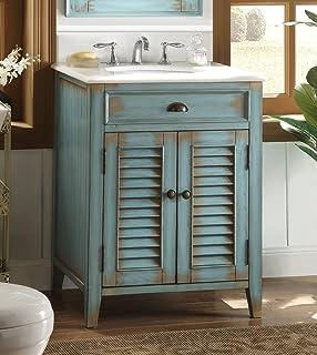 26 cottage look abbeville bathroom sink vanity blue model cf 28883bu