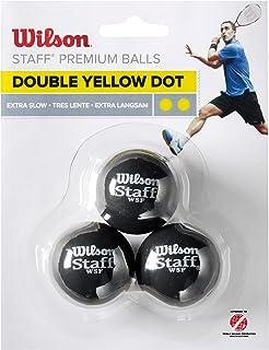 WILSON–Staff Squash 3Ball Double Dot, Couleur Lot de 3balles Couleur Lot de 3balles