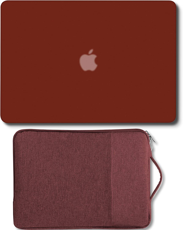 GMYLE MacBook Air 13 Pulgadas Fundas Duras Versión Anterior Compatible A1369 / A1466 2008-2017 Lanzamiento NO Touch ID, 13-13.3 con Funda para portátil con asa - Remolacha Roja