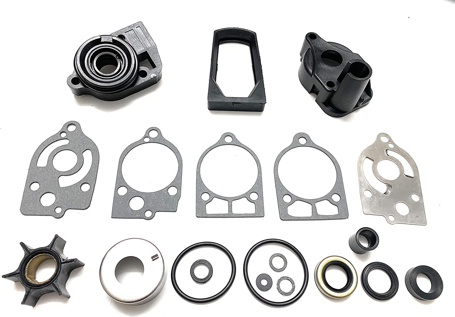 Water Pump Impeller Kit for Mercury 30 35 40 45 50 60 65 70 Hp Replaces 46-77177A3, Sierra 18-3324