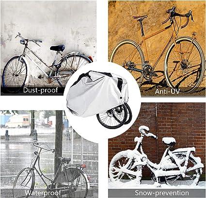 Luckywing Copertura Bicicletta Impermeabile Coperta per Bicicletta Copriauto Antipioggia per Abbigliamento per Biciclette e Moto