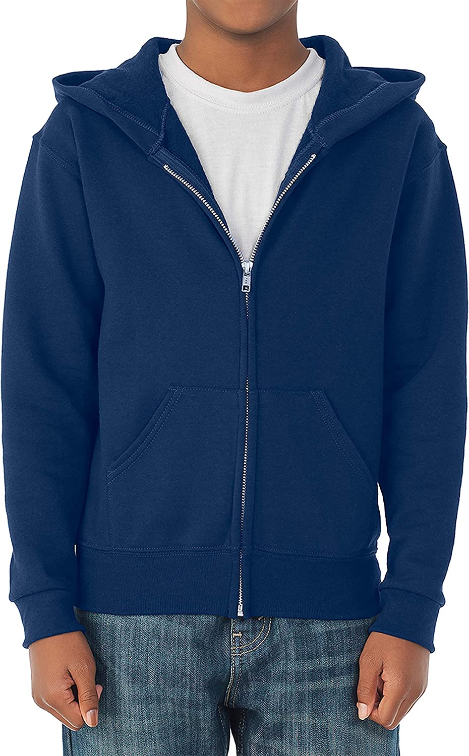 Full Zip X-Large US Navy Hoodies /& Sweatpants Hooded Sweatshirt Jerzees boys Fleece Sweatshirts