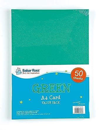 Baker Ross Pack ahorro de cartulina de colores A4 22 g/m2: Amazon.es: Industria, empresas y ciencia