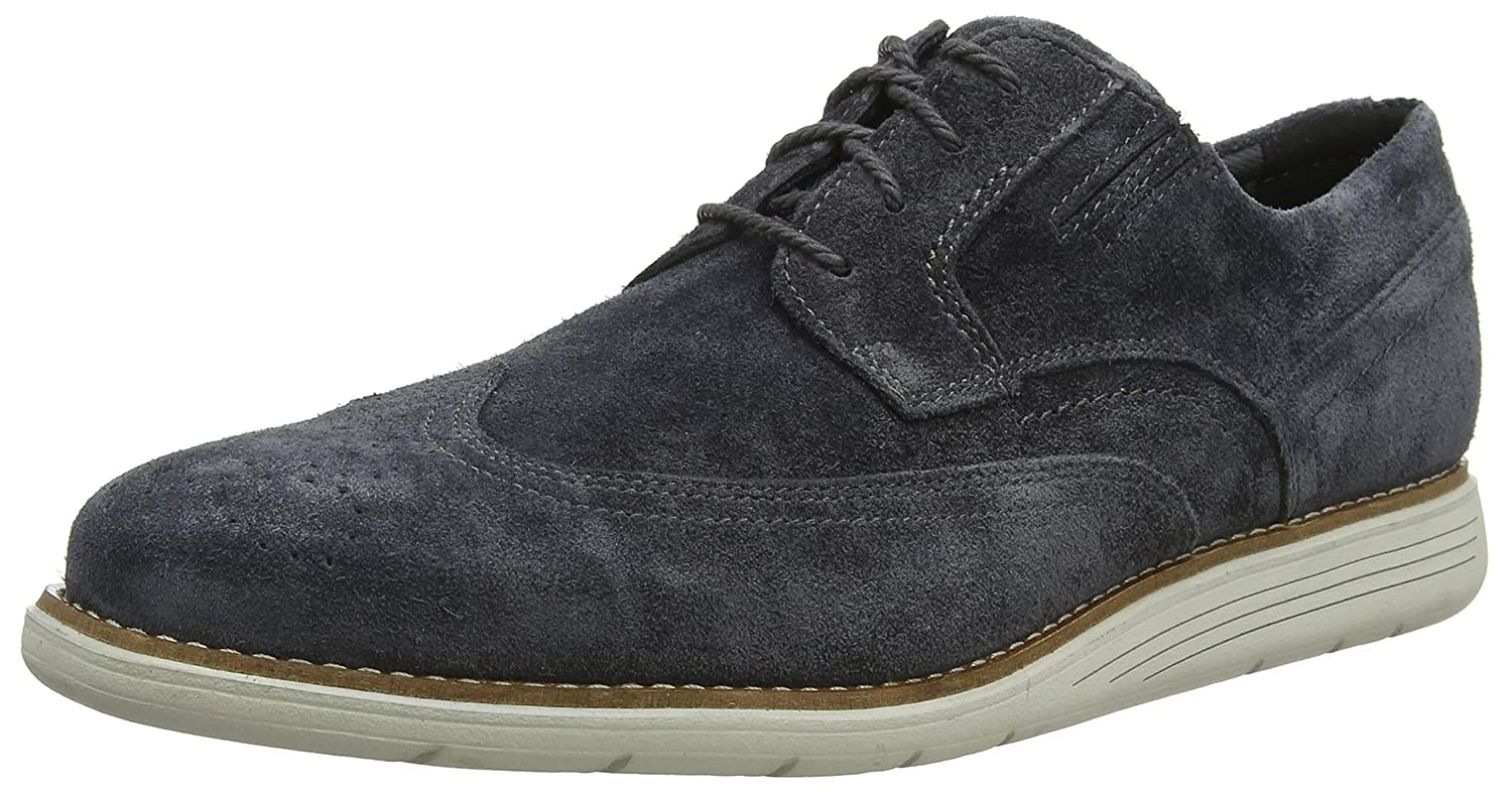 TALLA 42.5 EU. Rockport Tmsd Wingtip Brogue Winter Smoke, Zapatos de Cordones Hombre