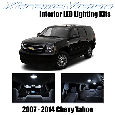XtremeVision Interior LED for Chevy Tahoe 2007-2014 (12 Pieces) Pure White Interior LED Kit + Installation Tool: Automotive