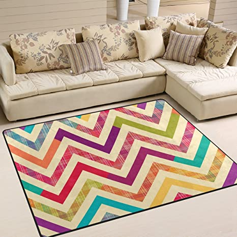 Amazon.com: alaza Colorful Bright Chevron Area Rug Rugs for ...