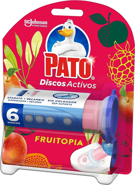 Pato - Discos Activos Wc Aroma Fruitopia, Aplicador Y Recambio Con 6 Discos, 36 ml