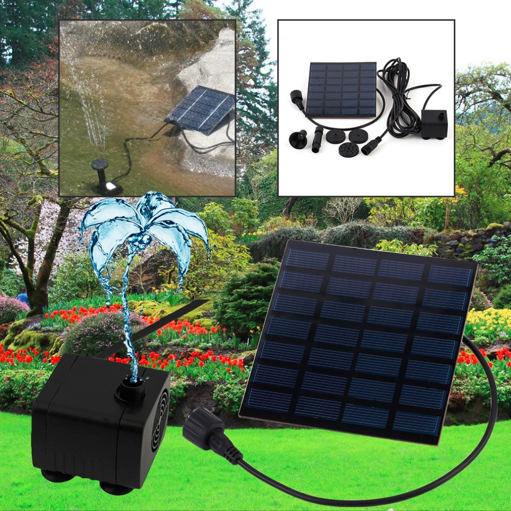 Ground Sprinklers NEW Hot 1Set Professional Solar Power Fountain Pool Water Pump Garden Plants Sun Plants Watering Outdoor Promotion