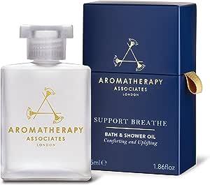 Aromatherapy Associates Support Breathe Bath & Shower Oil, 1.86 fl.oz with Pine, Tea Tree and Eucalyptus